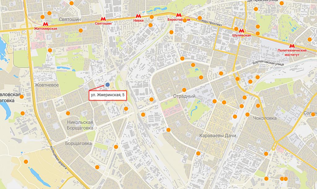 Новые проекты новостроек Киева ЖК на Жмеринской 5 карта