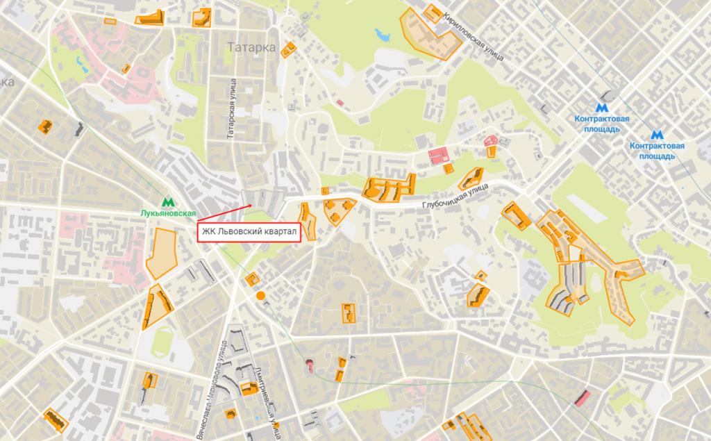 Новостройки с задежкой сроков сдачи ЖК Львовский квартал на карте