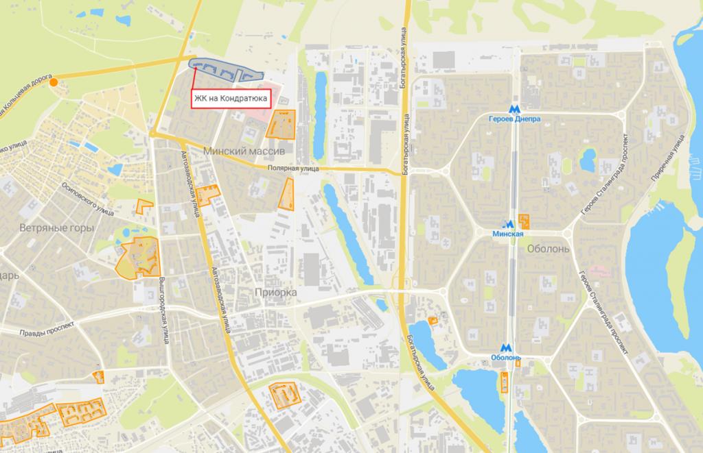 Новостройки с задежкой сроков сдачи ЖК Министерский на карте
