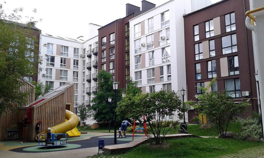 ЖК Белый Шоколад Центр детская площадка