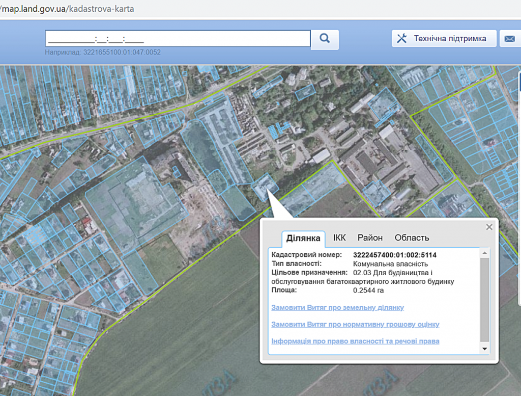 ЖК Парк плаза в Чабанах кадастровая карта