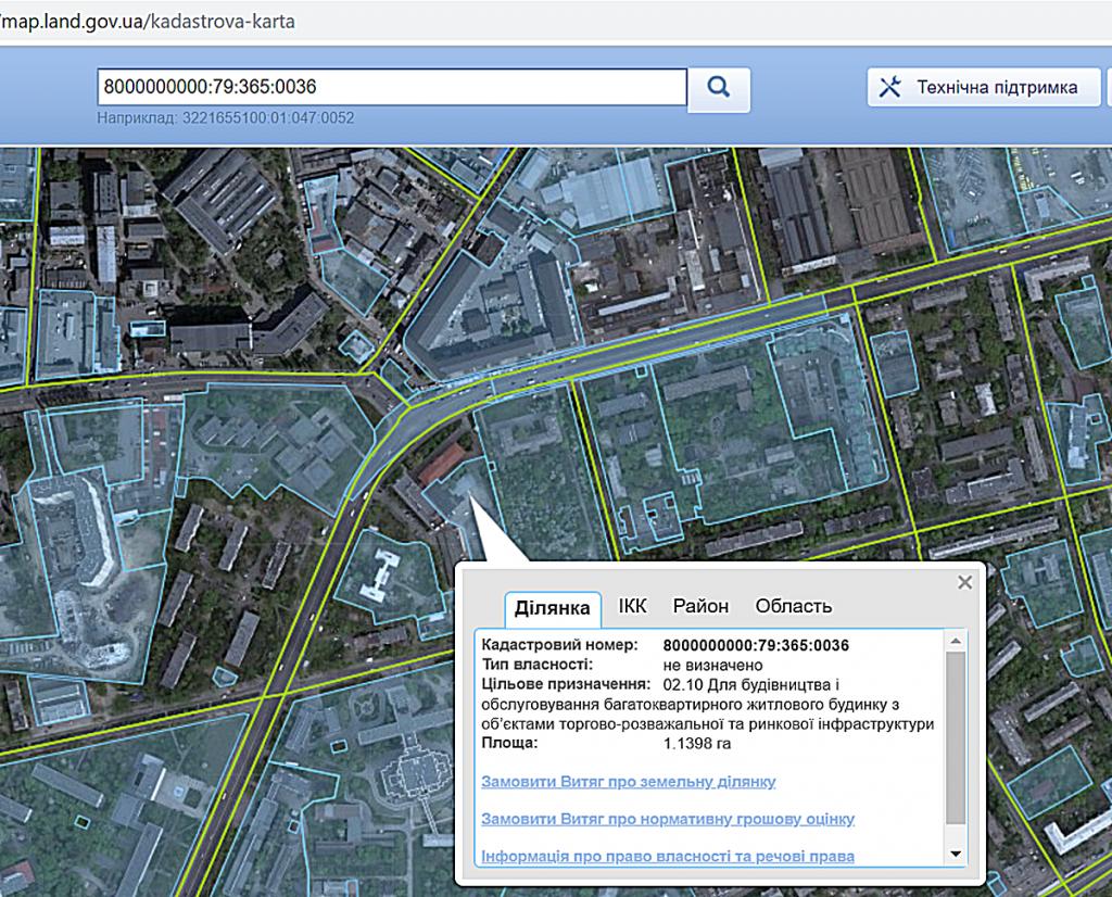 ЖК Голосеевский от Интергал Буд данные кадастровой карты