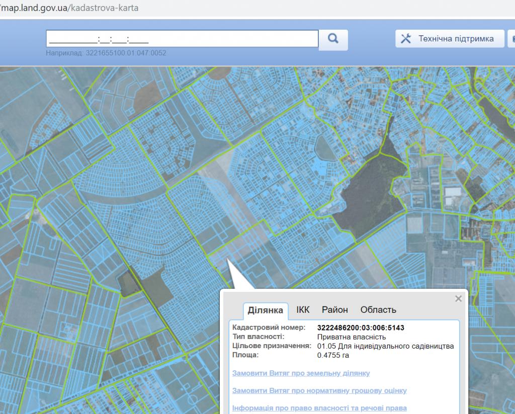 ЖК Парк Резиденс Софиевская Борщаговка участки кадастровой карты