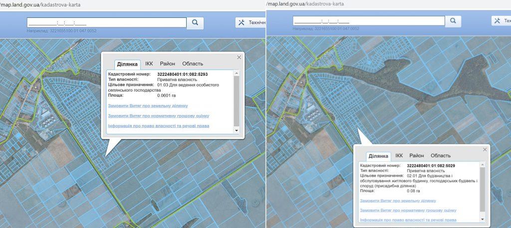Коттеджный городок Зеленый бульвар в Бедогородке данные кадастровой карты
