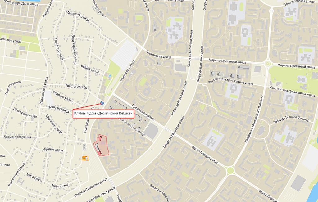 Клубный дом Деснянский ДеЛюкс на карте