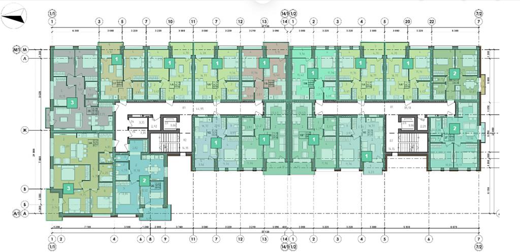 ЖК Рок Сити в Гостомеле план этажа