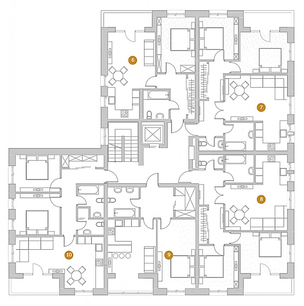 Клубный дом Деснянский ДеЛюкс план этажа