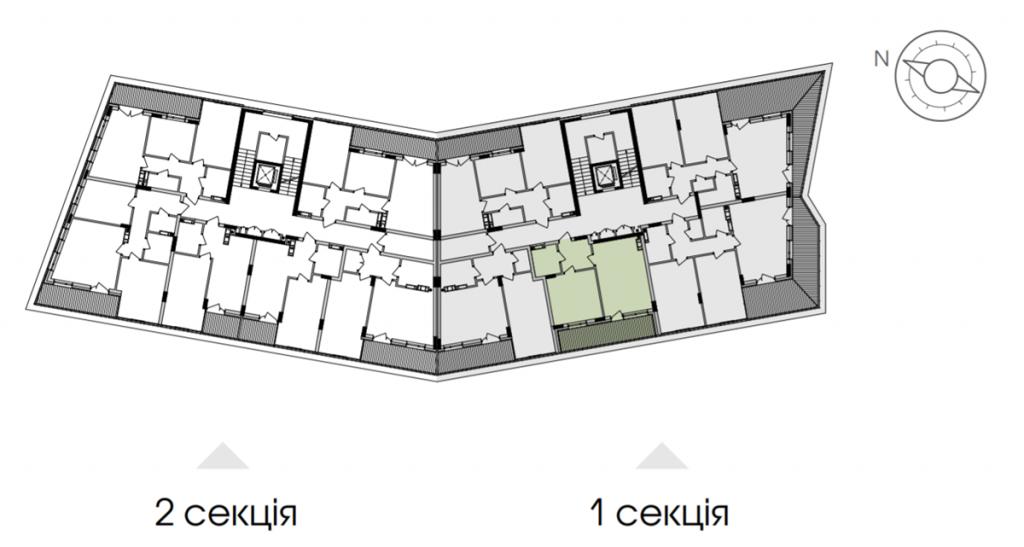 ЖК Парк лейк сити в Подгорцах поэтажный план