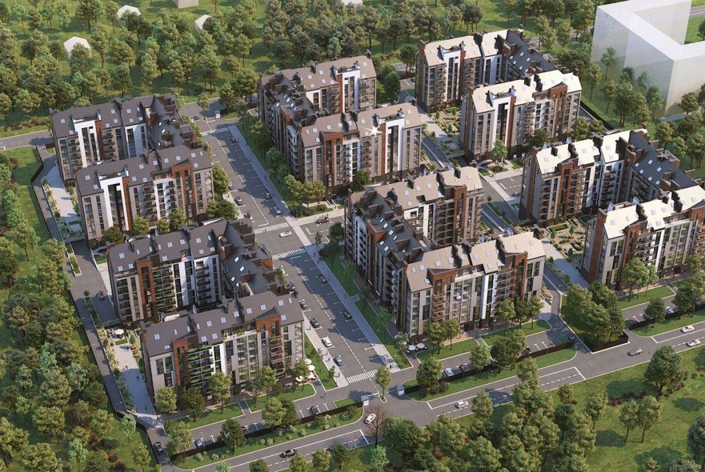 ЖК Парк Резиденс Софиевская Борщаговка визуализация