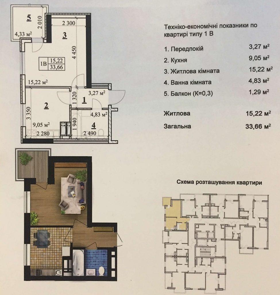 ЖК Молодежная инициатива ЖК Park Hills планировка однокомнатной квартиры