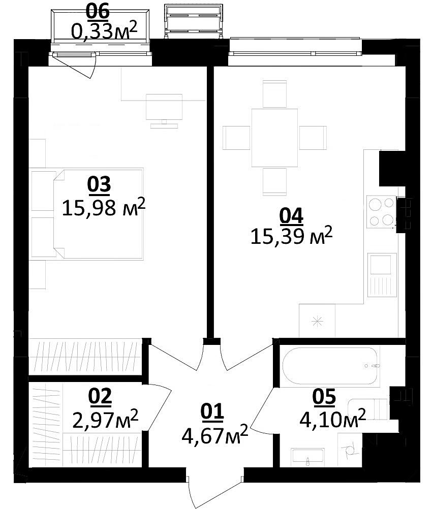 ЖК Белый Шоколад Центр планировка однокомнатной квартиры