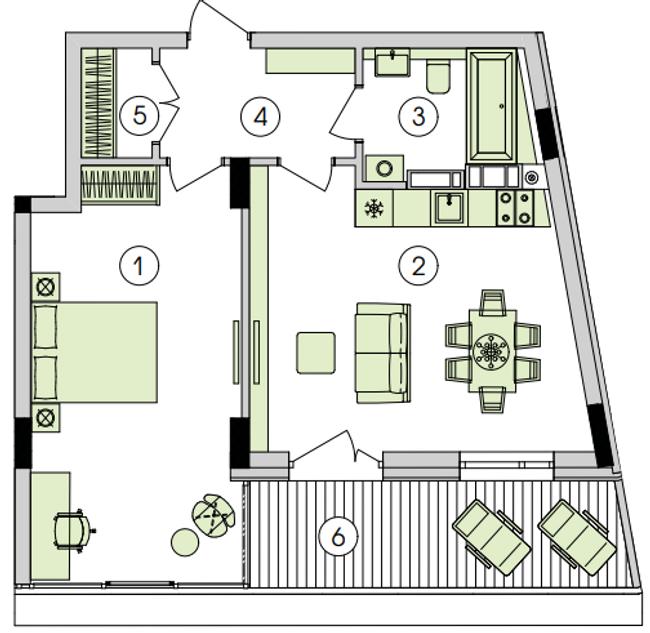 ЖК Парк лейк сити в Подгорцах планировка однокомнатной квартиры