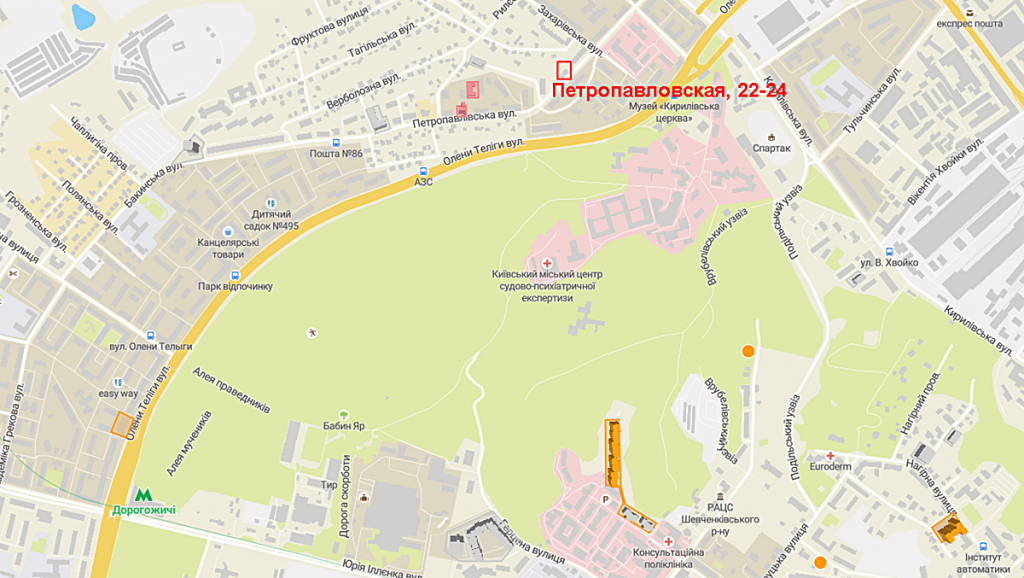 Новостройка на Петропавловской 22-24 на карте