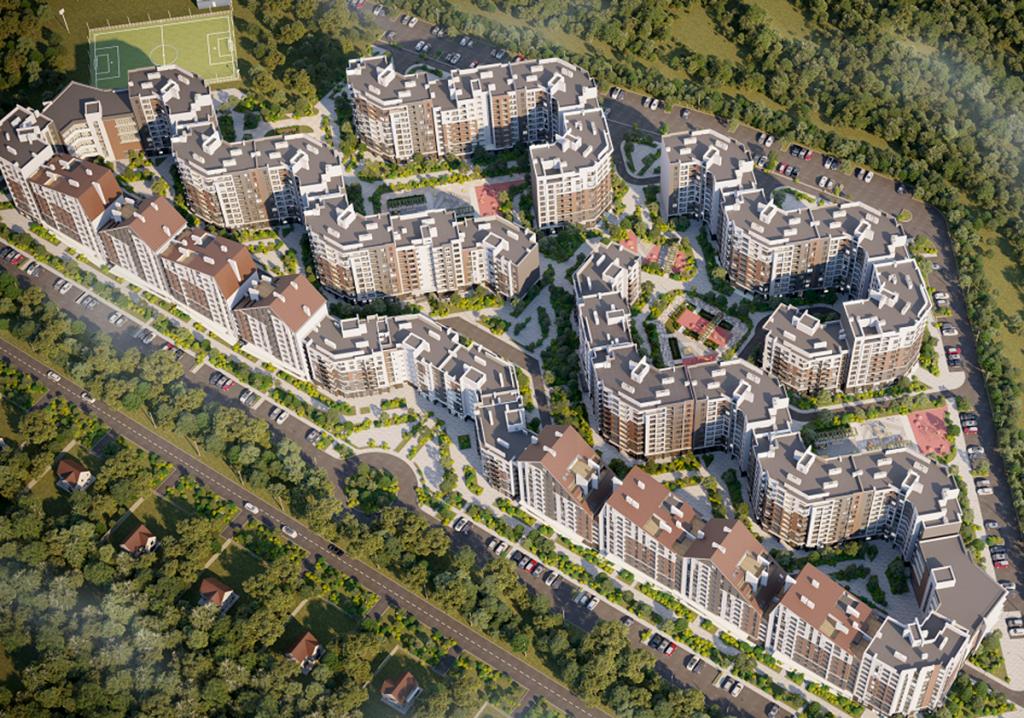 ЖК Синергия Сити в Ирпене вид на комплекс