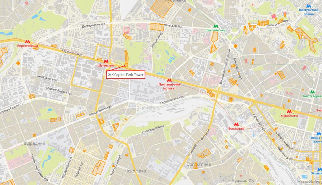 ЖК Кристал Парк Тауэр на карте