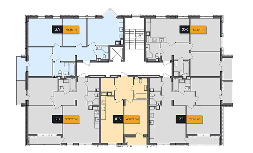 ЖК Баса Сити в Ходосовке план этажа второго дома