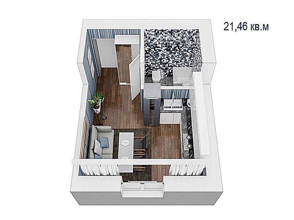 ЖК Вуд Парк в Быковне планировка смарт квартиры
