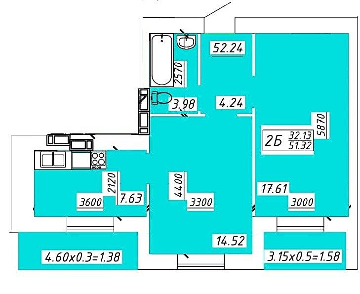 ЖК Павленко Холл Беличи планировка двухкомнатной квартиры
