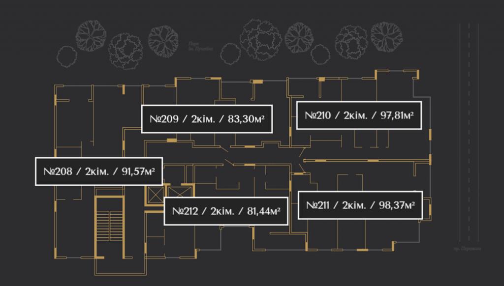 ЖК Кристал Парк Тауэр план этажа
