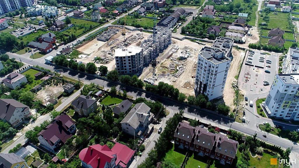 Детальный план территорий Петропавловской Борщаговки новостройки и частная застройка