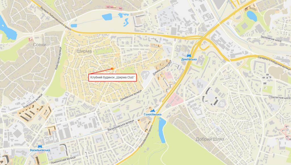 ЖК Киева Ширма Клаб с индивидуальным отоплением квартир на карте