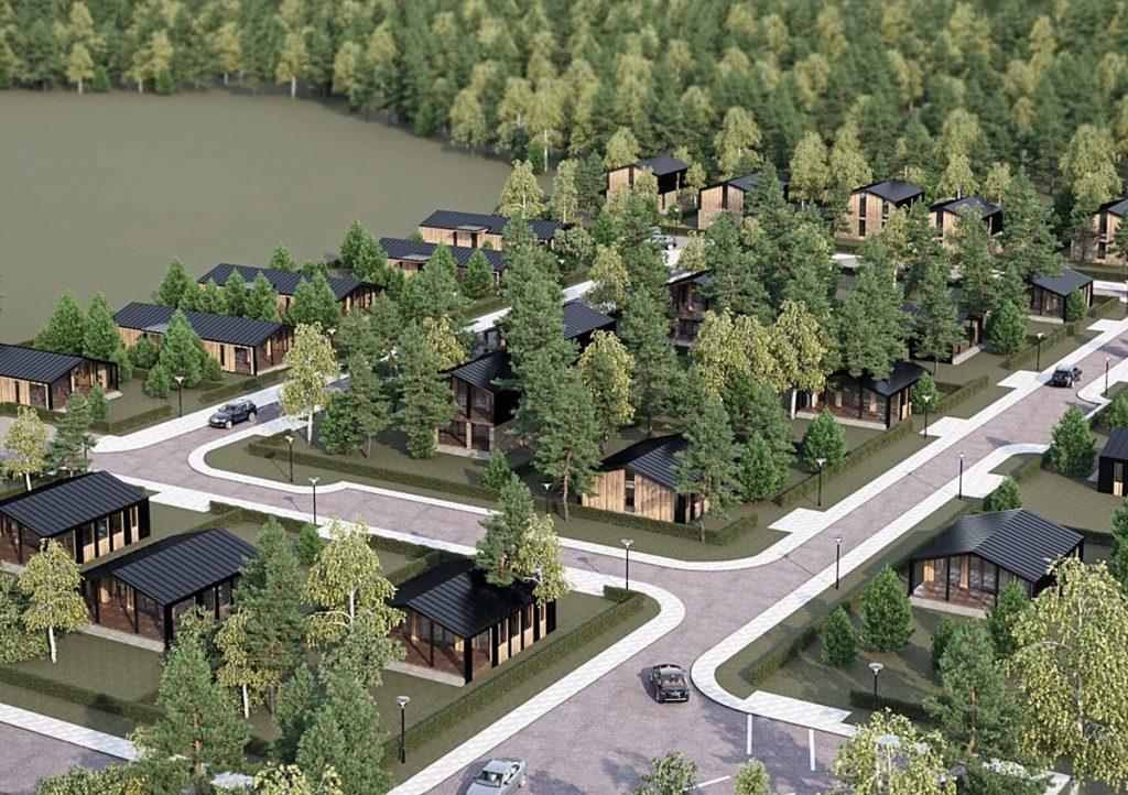 Коттеджный городок Оклахома в Дмитровке визуализация