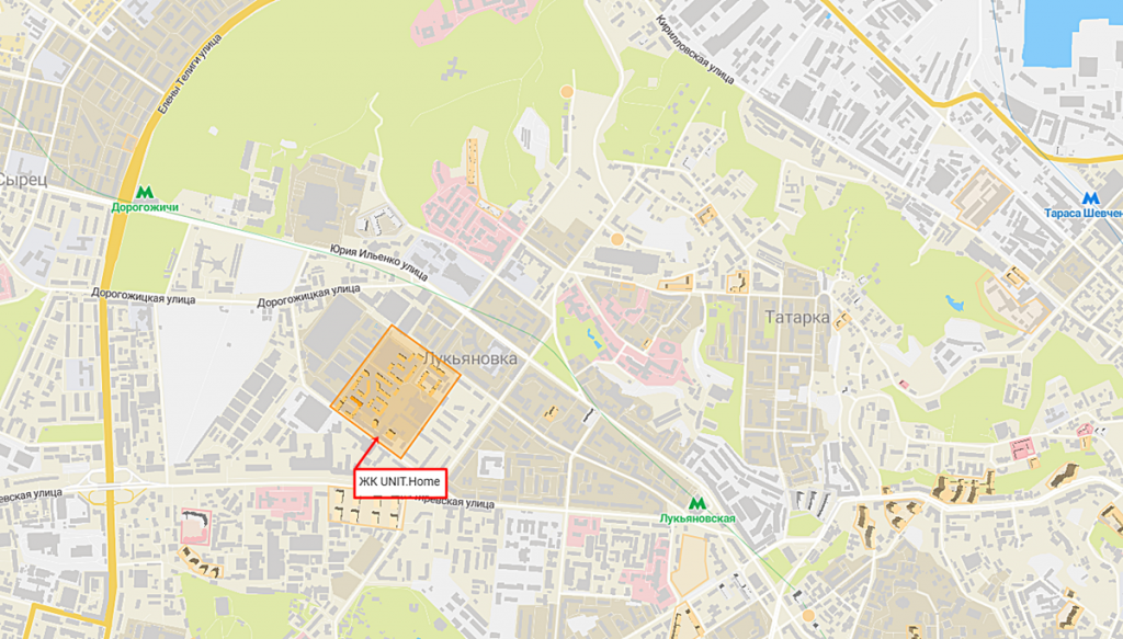 ЖК Юнит Хоум от ЮДП и КАН Девелопмент на карте