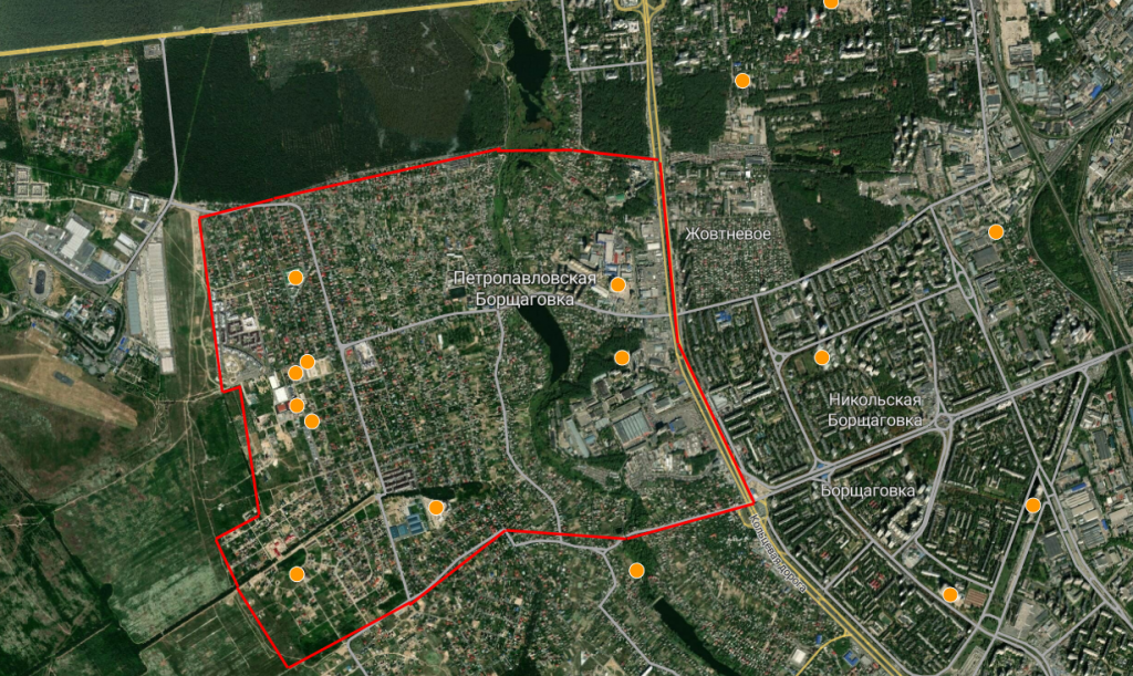 Детальный план территорий Петропавловской Борщаговки