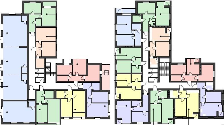 ЖК Гостомельские Липки 3 в Гостомеле план этажа