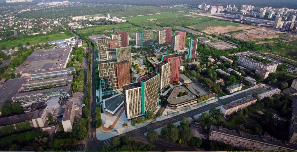 ЖК Діброва парк вид на комплекс