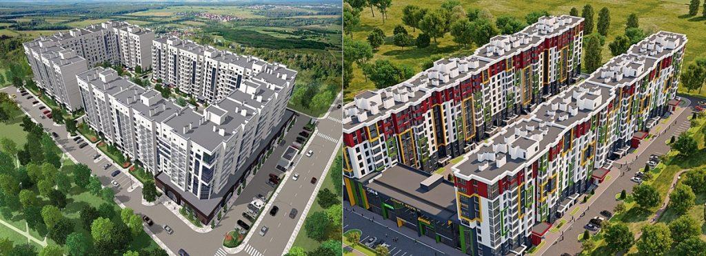 ЖК Чабаны град и ЖК Пионерский квартал 2 в Чабанах