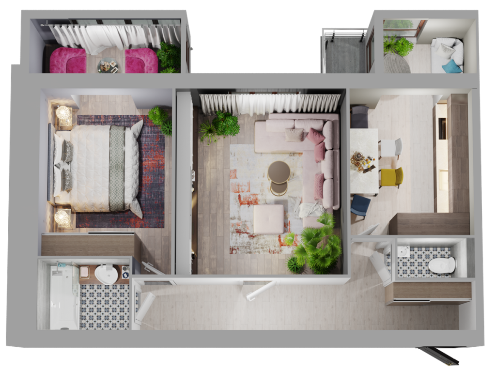ЖК Триумф Софиевский в Счастливом планировка двухкомнатной квартиры