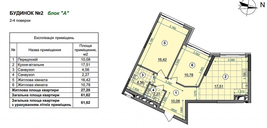 ЖК Діброва парк планировка двухкомнатной квартиры