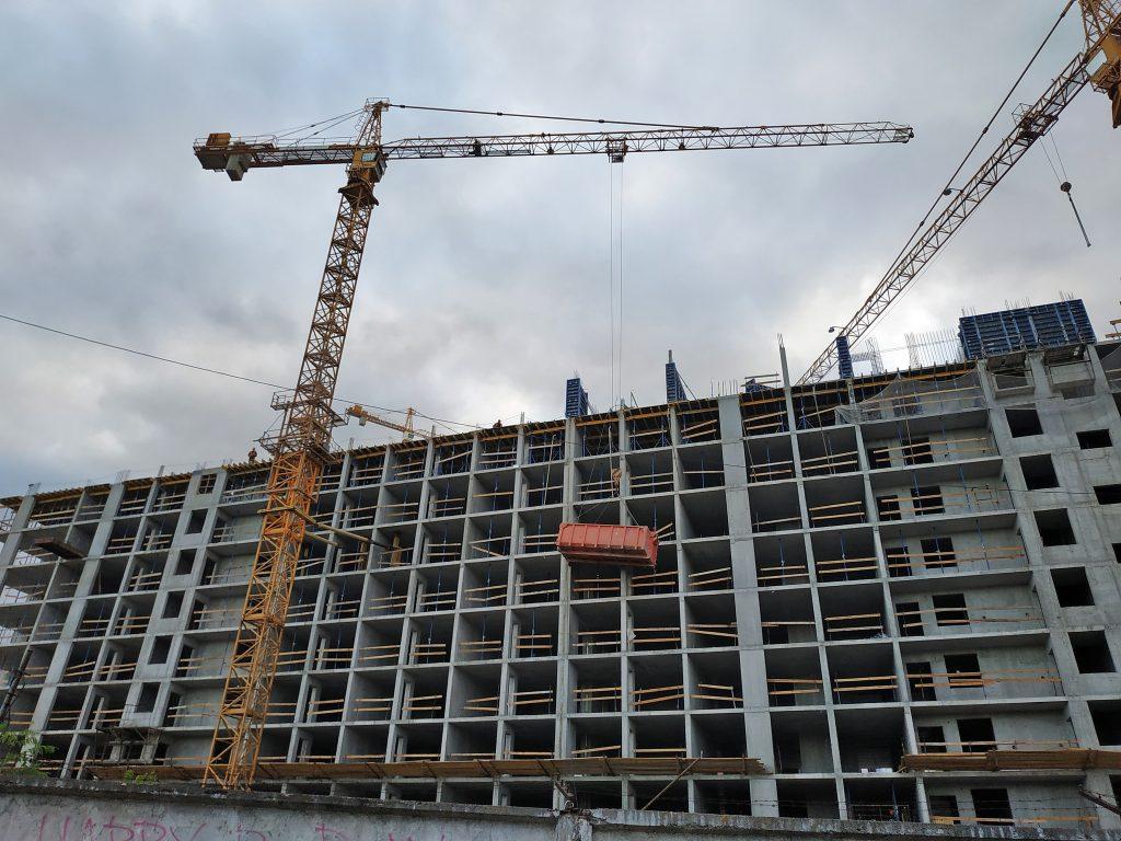 ЖК Галактика вид на строительство домов третьей очереди