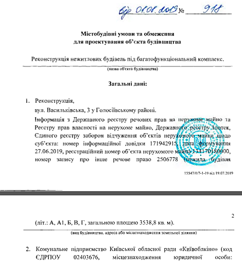 Будущая новостройка на ул Васильковская 3 выданные градостроительные условия и ограничения