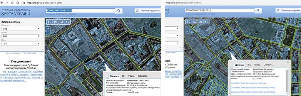 Будущая новостройка на ул Жилянская 81 и Гайдара 5 данные об участках в кадастре