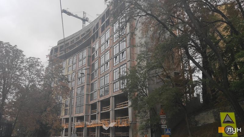 Почти построенный ЖК Линден Лакшери Резиденс ход строительства