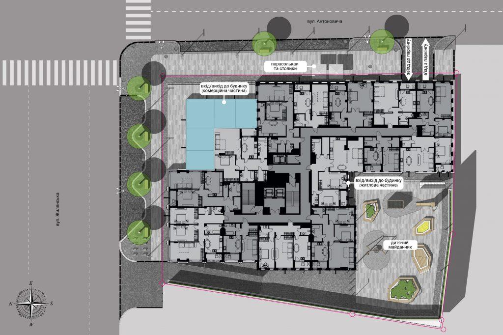 ЖК Чикаго Централ Хаус генеральный план