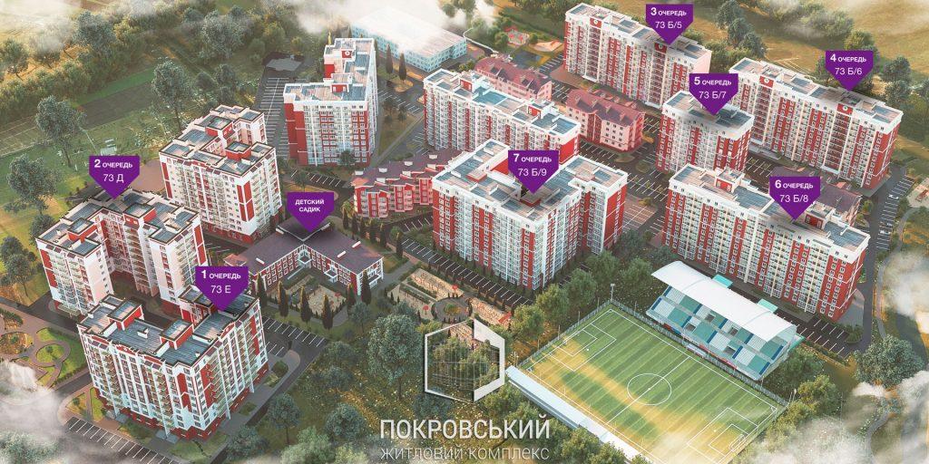 ЖК Покровский в Гостомеле генеральный план