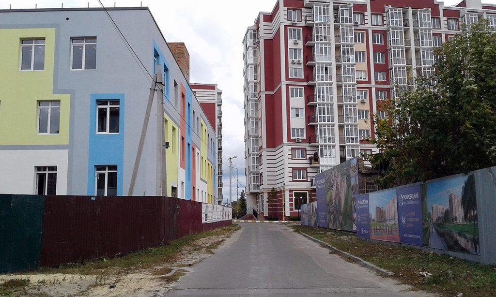 ЖК Покровский в Гостомеле недостроенный детсад