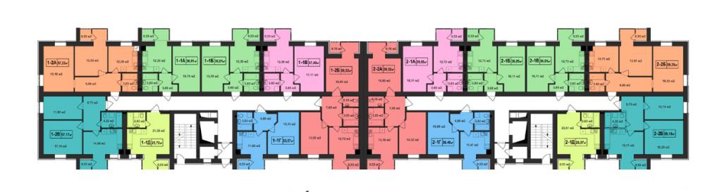 ЖК Покровский в Гостомеле планировка этажа четвертого дома