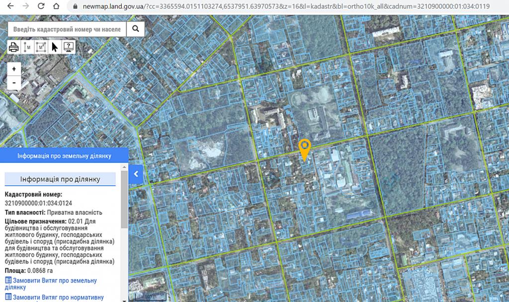 ЖК Капитал 2 в Ирпене данные кадастра о целевом назначении земли