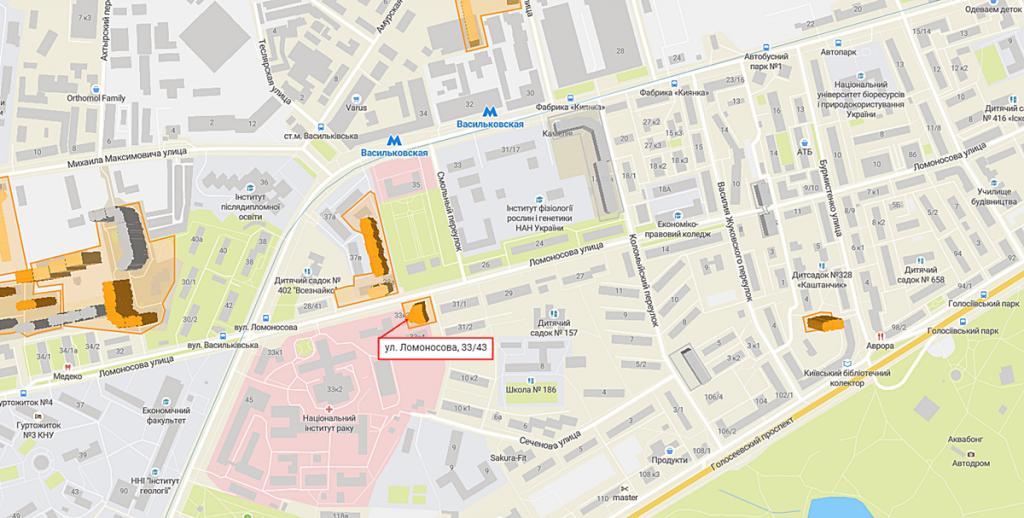 ЖК Ломоносова от BudСapital и КГС на карте