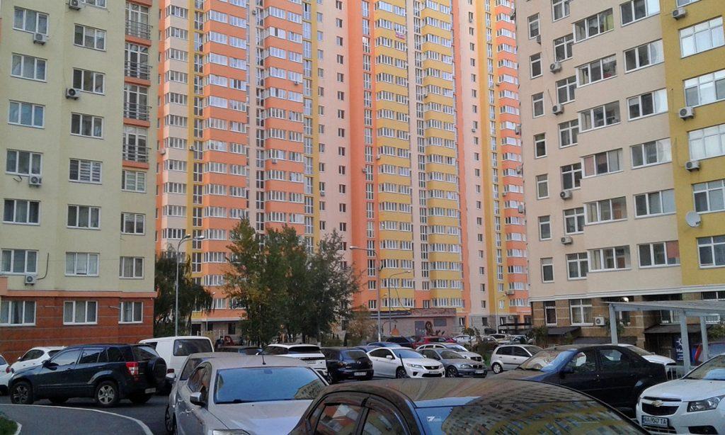 ЖК Яскравий от Интергал Буд стоянка парковка