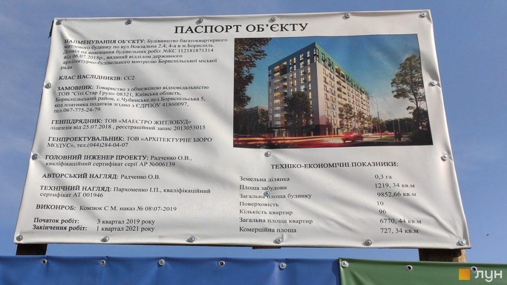 Жилой дом 2 в Борисполе строительный паспорт