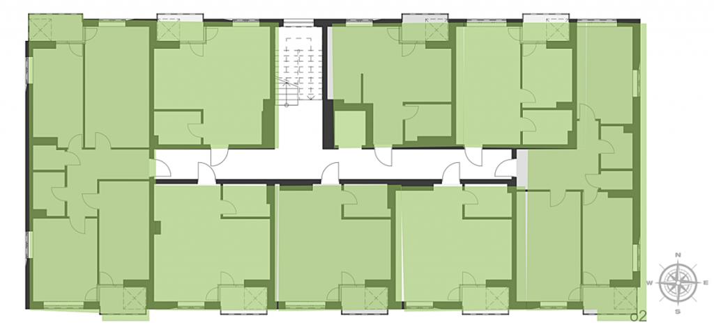 ЖК О2 Резиденс от Сага Девелопмент план этажа первого и третьего дома