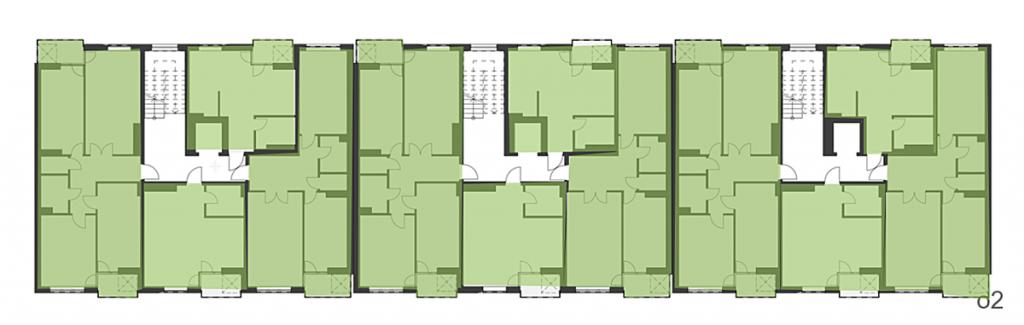 ЖК О2 Резиденс от Сага Девелопмент план этажа второго дома