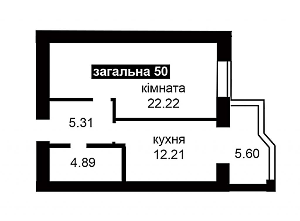 ЖК Капитал 2 в Ирпене планировка однокомнатной квартиры