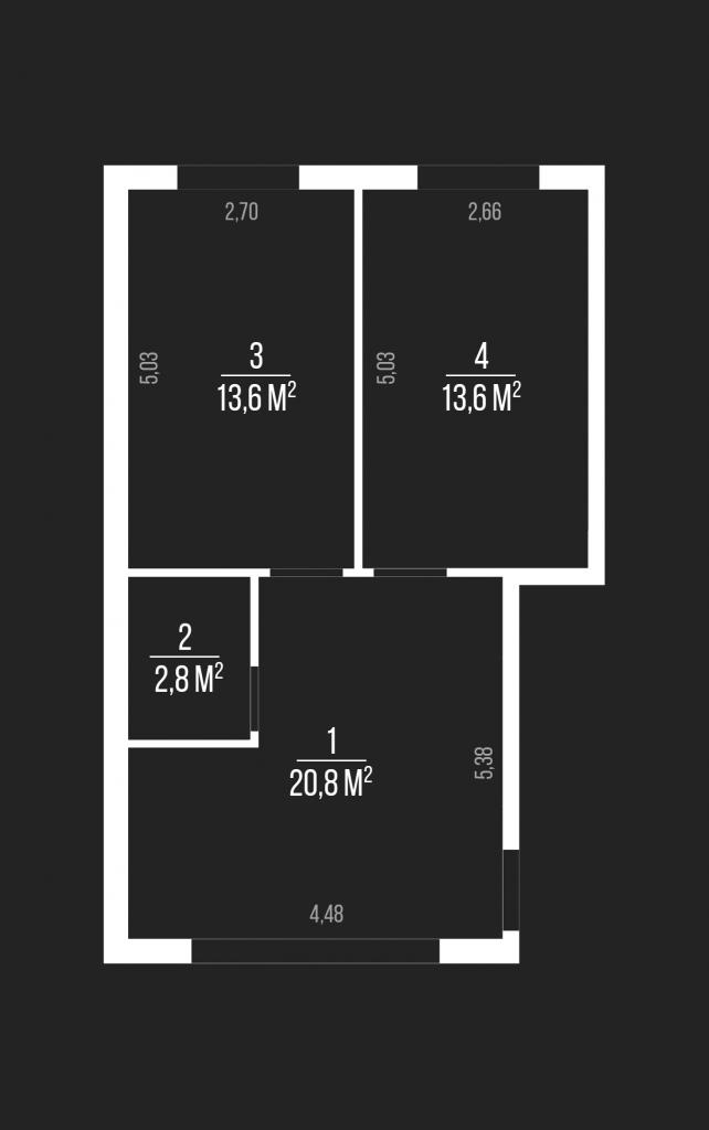 ЖК Geneva в Софиевской Борщаговке планировка двухкомнатной квартиры