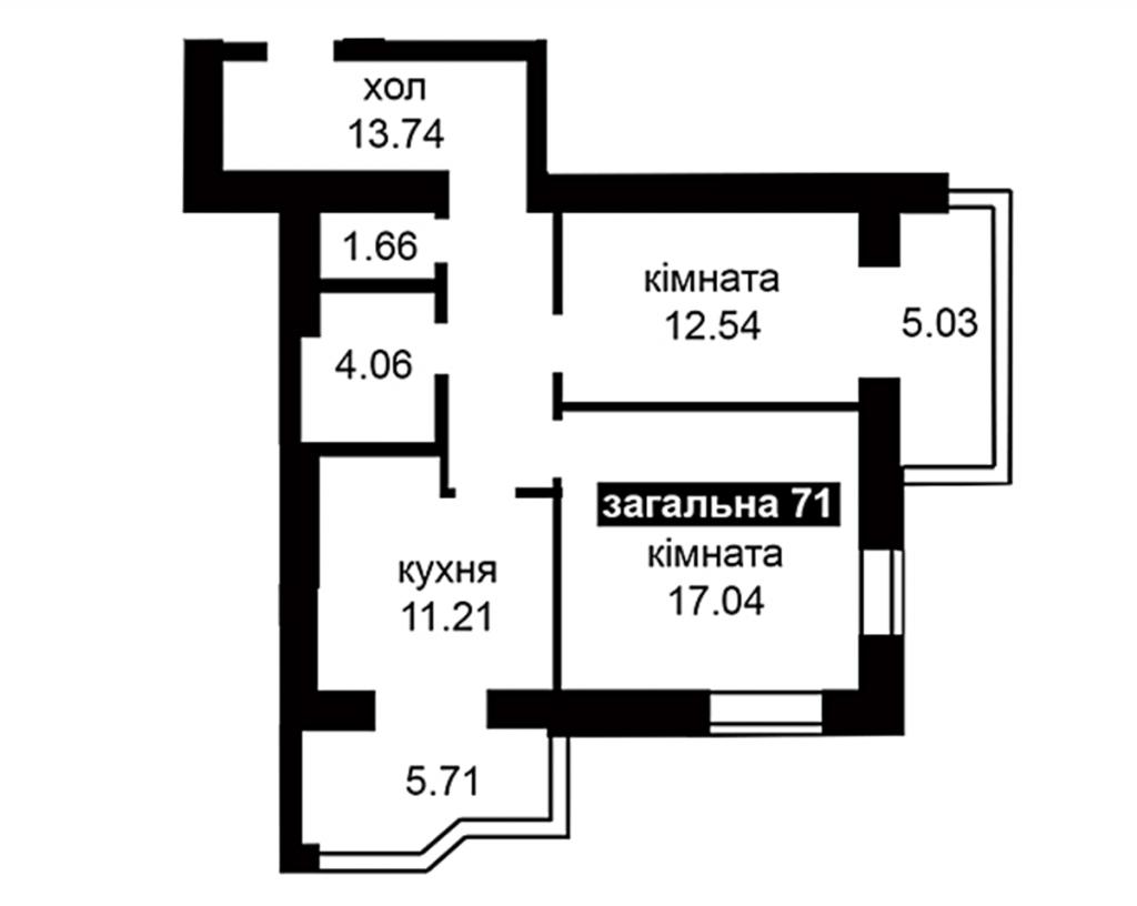 ЖК Капитал 2 в Ирпене планировка двухкомнатной квартиры
